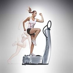 Women using power plate machine